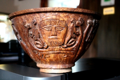 Elm bowl with image from the Gundestrup Cauldron, 4