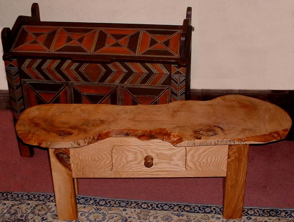 ash coffee table & dowry chest