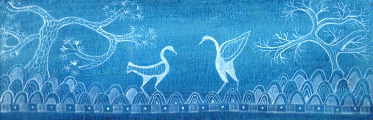 Blue&white birds