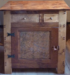 Brown oak cupboard