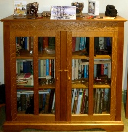 "Carved oak bookcase ""Himalayas"""