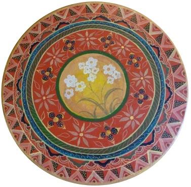 Decorated box lid