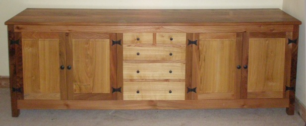 Elm and cherry sideboard
