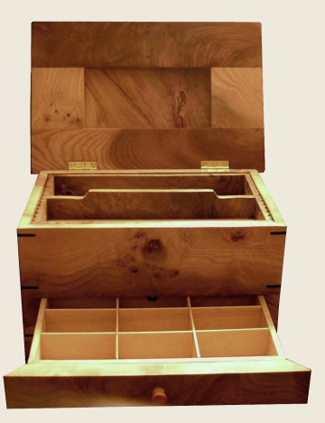 Elm jewellery Box, open