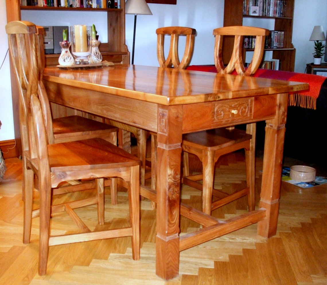 Elm table and chairs
