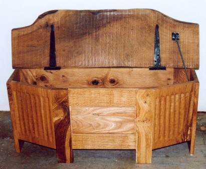 Fluted oak chest 2