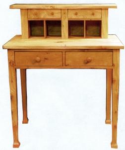 Wych elm desk