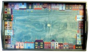 'Georgian town' tray