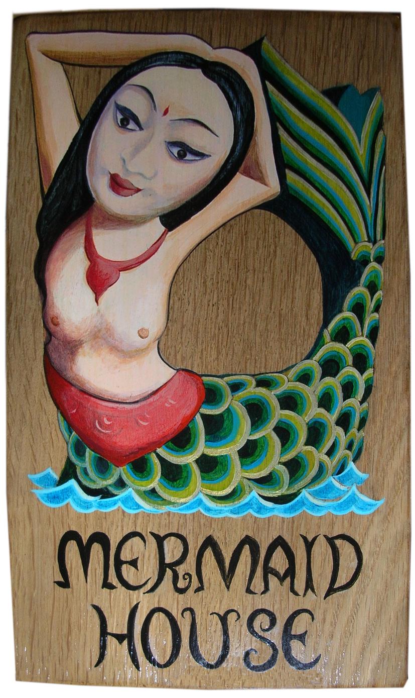 Mermaid house sign