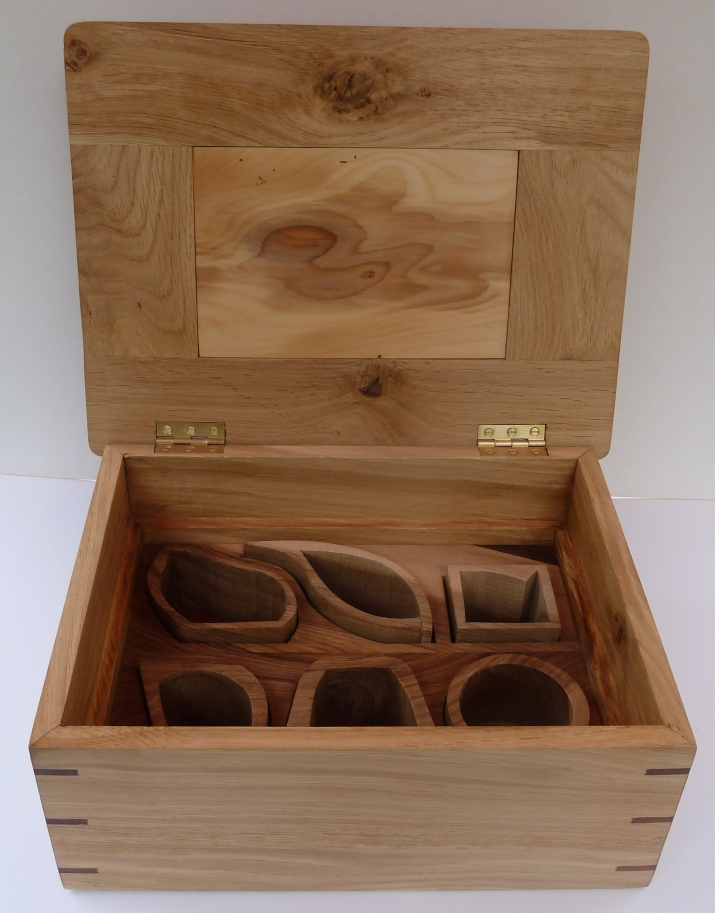 oak jewellery box, 3