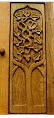 Owl in ivy door