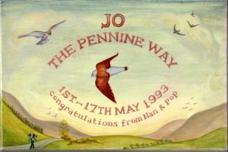 Pennine Way box, lid