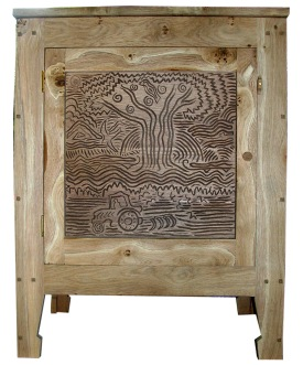 Tree of Life, oak cupboard