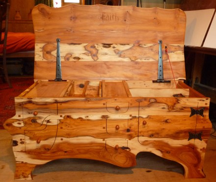 Yew chest of drawers 2