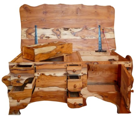 Yew chest of drawers 3